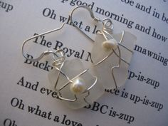 Pure Elegance - Frosted White Sea Glass Earrings