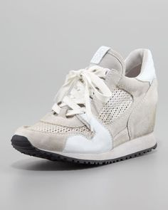 Dean Wedge Sneaker, White by Ash at Neiman Marcus.
