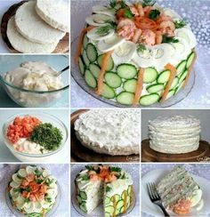 Delicious Swedish Sandwich Cake for Savory Food Lovers Cold Sandwiches, Party Sandwiches, Delicious Sandwiches, Sandwich Torte, How To Make Sandwich, Easy Cake Recipes, Creative Food, Creative Ideas, High Tea