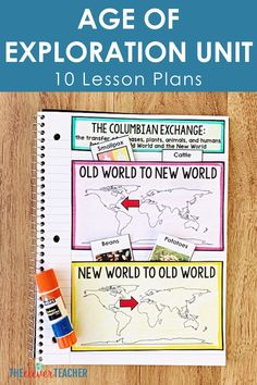 10 Interactive Age of Exploration Lesson Plans for Middle School 7th Grade Social Studies, Teaching Social Studies, Explorers Unit, Early Explorers, Teaching Us History, History Education, Elementary Education, Map Activities, History Projects