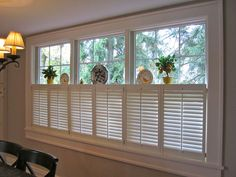 French Brothers San Diego Shutters specializes in serving San Diego with beautiful shutters, closet doors, and louvers. Specializing in San Diego shutters for homes and businesses. Kitchen Shutters, Interior Window Shutters, Wooden Shutters, Interior Windows, Linden Homes, Shutter Designs, Kitchen Nook, Kitchen Ideas, Cafe Style