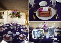 purple beach wedding centerpieces