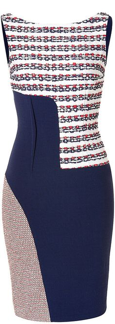 Prabal Gurung Asymmetric Patchwork Sheath Dress