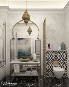 Moroccan Bathroom on Behance