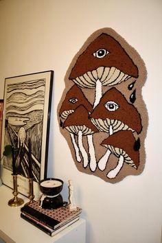 Funky Rugs, Cool Rugs, Teen Room Decor, Bedroom Decor, Gun Art, Rug Inspiration, Art Textile, Weird Shapes, Room Setup