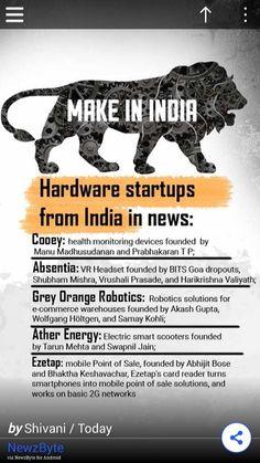 Make in India read more goo.gl/k3Cvyl