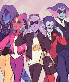 Lotor and his gang by ikimaru #voltron #fanart <<< Lotor, Narti, Kova, Ezor, Acxa, and Zethrid