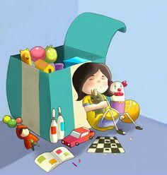 Ilustração para um livro infantil ( cores Pedro Fama)