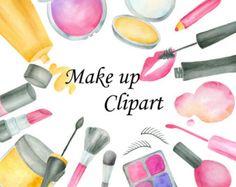 ON SALE40% acuarela maquillaje gráfico: Cosmética Clip