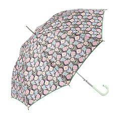 Paraguas Catalina Estrada for Ezpeleta —#13711 Paraguas largo de mujer. 60/8 Aluminio manual con varillas de fibra de vidrio. Estampado diseñado por ©Catalina Estrada. Tejido PVC transparente. Surtido de 4 colores. #umbrella #CatalinaEstrada #fashion #trend