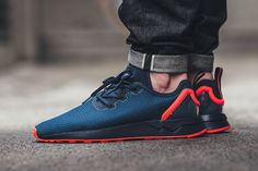 "adidas ZX Flux ADV Asymmetrical ""Collegiate Navy/Solar Red"" - EU Kicks: Sneaker Magazine"