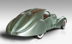 Jean Bugatti's 1935 Aérolithe (meteorite) concept