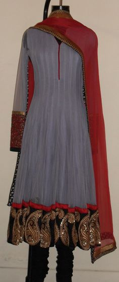 Great color combo with zardozi embroidery