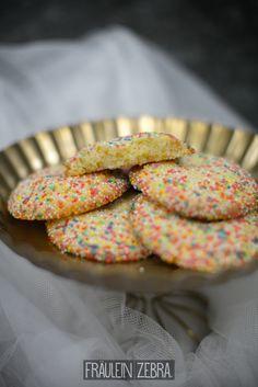 Lemon Sprinkle Cookies | Bunte Zitronen Cookies #fraeuleinzebra