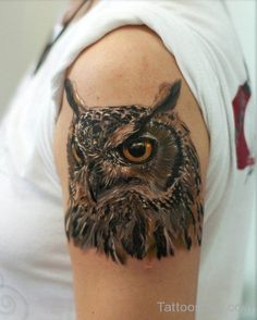 Category: Bird Tattoos Owl Tattoos Shoulder Tattoos