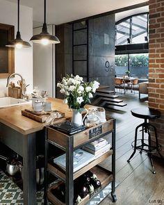 Refined industrial. #interior #interiordesign #decor #homeideas  #industrialdesign #design #homestyling #interior #grey #livingroom #industrial #decorating