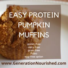 Follow this simple, allergy-friendly, healthy recipe with real ingredients, lots of protein and healthy fats to help stabilize blood sugar and keep you feeling full longer! And SO EASY to make! Mix all ingredients in a blender, pour in muffin liners, bake and enjoy! Doesn't get any easier than this!