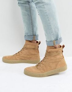 02ff4f464f ASOS Sneaker Boots In Stone Suede With Back Pull Klick to see the Price #men