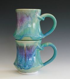 Handmade Porcelain Coffee Mugs by ocpottery on Etsy