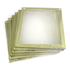 "w// 250 tpi Yellow Mesh 2-Pack 20/""x24/"" Aluminum Screen Printing Frame"