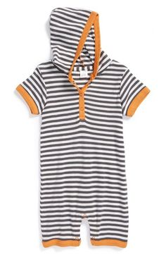 Nordstrom Baby Hooded Romper (Baby) available at #Nordstrom
