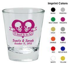 Personalized Shot Glasses (Clipart 1752) Til Death Do Us Part - Wedding Shot Glass Favors - Custom Shot Glass - Wedding Shot Glasses #mybigday #wedding