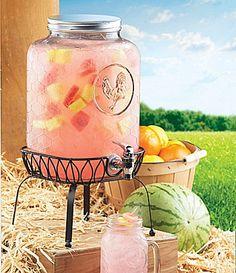 Chicken Coop Drink Dispenser w/ Stand
