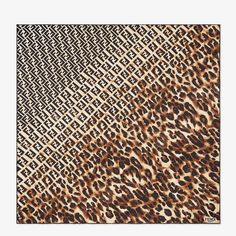 Multicolor silk foulard - FF SPLASH FOULARD | Fendi