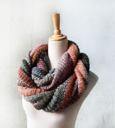 Dusk Stripe Knit Scarf