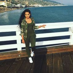 """@theerealkarlaj wearing our """"Olive Jumpsuit"""" from alyannaclothing.com shop now!"""