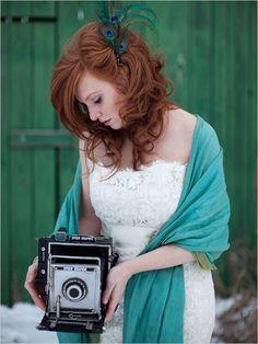Gorgeous winter vintage chic wedding shoot. *