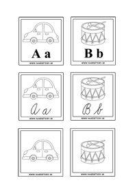 Kartičky s písmenkami a obrázkami - Aktivity pre deti, pracovné listy, online testy a iné