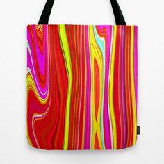 Twiggy Stripes cv1 Tote Bag by Paul Ashby - $22.00