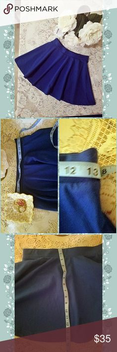 Blue Skater Skirt Size Medium Pretty blue skater skirt. Cute with tights and boots, or high heels Skirts Circle & Skater