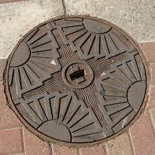 Art Deco manhole cover.
