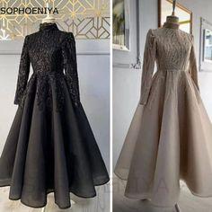 Wedding Dress Backs, Fancy Wedding Dresses, Prom Girl Dresses, Modest Bridesmaid Dresses, Tulle Prom Dress, Wedding Dress Sleeves, Dresses For Hijab, Muslim Prom Dress, Hijab Evening Dress