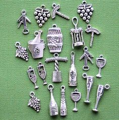 Deluxe Wine Charm Collection Antique Tibetan by BohemianFindings, $4.75