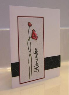 Remembrance Day by - Cards and Paper Crafts at Splitcoaststampers Remembrance Day Drawings, Remembrance Day Activities, Remembrance Day Poppy, Art Activities For Kids, Art For Kids, Fall Library Displays, Poppy Craft, Remember Day, Bulletins