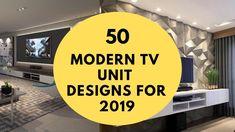 50 Best Modern TV Unit Design for Living Room in 2019 - unit 2019 50 Best Modern TV Unit Design for Living Room in 2019 Modern Tv Unit Designs, Modern Tv Wall Units, Tv Stand Designs, Modern Design, Modern Tv Cabinet, Tv Cabinet Design, Living Tv, Living Room Tv Unit, Tv Unit Images