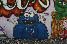 Brighton Graffiti - Cookie Monster by Iain Tait, via Flickr