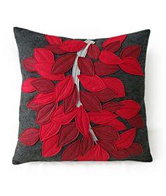 Etsy Find: Recycled Felt Pillows by Alexandra Ferguson Applique Cushions, Felt Applique, Sewing Pillows, Diy Pillows, Decorative Pillows, Throw Pillows, Diy Arts And Crafts, Creative Crafts, Felt Crafts
