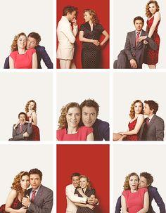 "Scarlett Johansson and Robert Downey Jr. (for ""USA Weekend"")."
