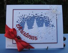 Christmas Card With Snowflakes..
