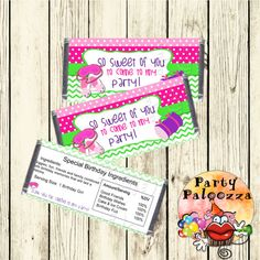 Printable birthday slumber party Candy Bar by PartyPaloozza