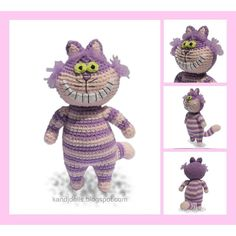 Who has not read Alice's Adventures in Wonderland? Alice falls through a rabbit hole and finds herself in an enchanted fantasy world. In this world she meets peculiar creatures. One of them is the Cheshire Cat. In my shop are also patterns for Alice and the White Rabbit.This pattern is available in English (using US crochet terms). It is 10 pages long with very detailed instructions and 25 images to help you with every step. Size: The Cheshire Cat is 6.5 inches tall (16.5 cm). This excludes…