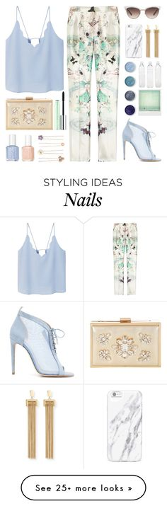 """""""Tailored Pants."""" by killerqueen188 on Polyvore featuring MANGO, Prabal Gurung, Chloe Gosselin, Terre Mère, Chloé, Gucci, Jane Norman, Essie, Polaroid and Seletti"""