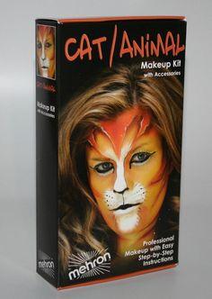 Cat Animal Makeup Kit school stage theatrical costume Mehron performance quality #Mehron