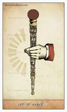 Ace of Wands - Isidore Tarot by Bethalynne Bajema