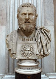Emperor Pertinax, Roman bust (marble), 2nd century AD, (Musei Vaticani, Vatican City).