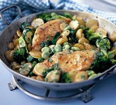 Saucy chicken and vegetables